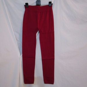 New Mix Burgundy Plus Size Fleece Lined Leggings